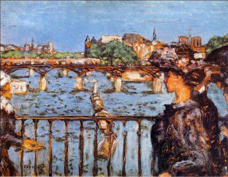 Quel peintre nabi est l'auteur de cette toile intitulée  Le Pont des Arts  exécutée en 1899 ?