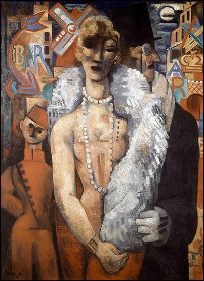 Quel artiste, qui s'est toujours tenu à l'écart des groupes ou des courants artistiques, a représenté une des places mythiques des nuits parisiennes du Montmartre des années folles, par ce tableau intitulé  Place Blanche , en 1928 ?