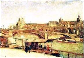 Pont Carrousel et le Louvre . Ce tableau fait partie d'une série de peintures représentant les ponts de la Seine. Qui est ce peintre ?