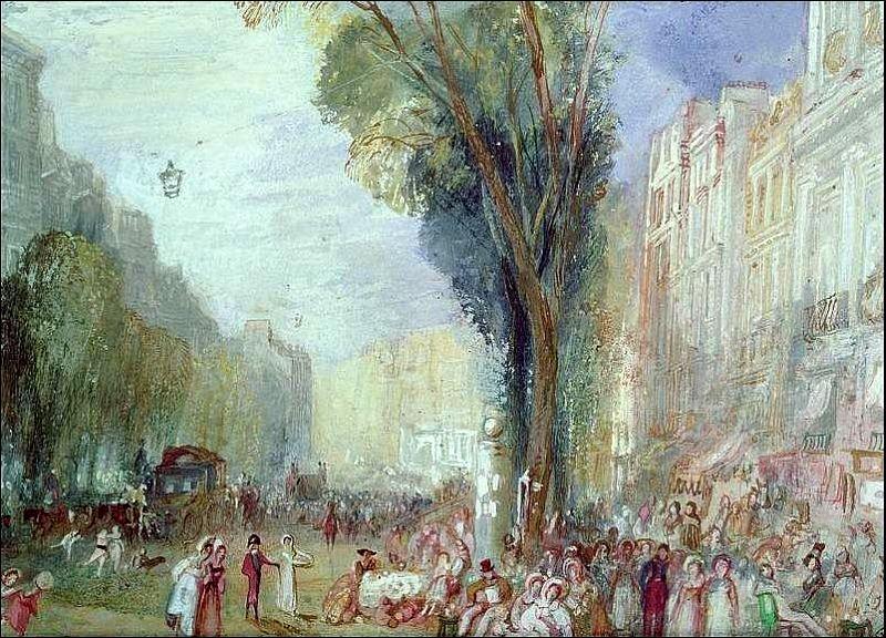 Quel artiste, aquarelliste et graveur a réalisé  Boulevard des italiens  vers 1832 ?