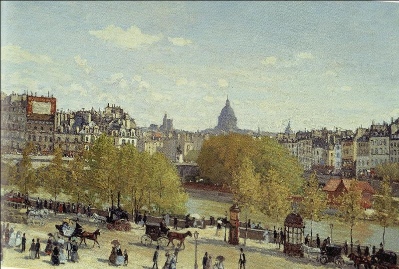 Quel grand peintre impressionniste a réalisé  Le quai du Louvre  en 1867 ?