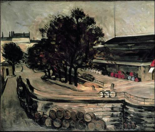 A quel peintre, né à Aix-en-Provence, auteur de nombreux paysages provençaux dont  La montagne Sainte Victoire , doit-on  La Halle aux vins vue de la rue de Jussieu , en 1872 ?