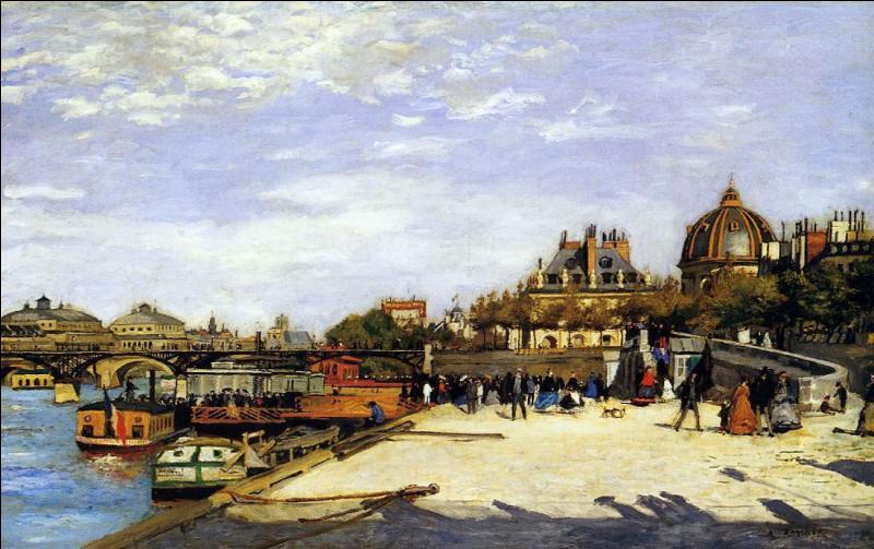 A quel grand peintre impressionniste français né à Limoges, doit-on  Le Pont des Arts , réalisé en 1867 ?