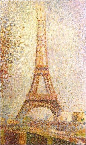 Qui a peint, en 1889,  La Tour Eiffel , tableau conservé au  Fine Arts Museum  de San Francisco ?