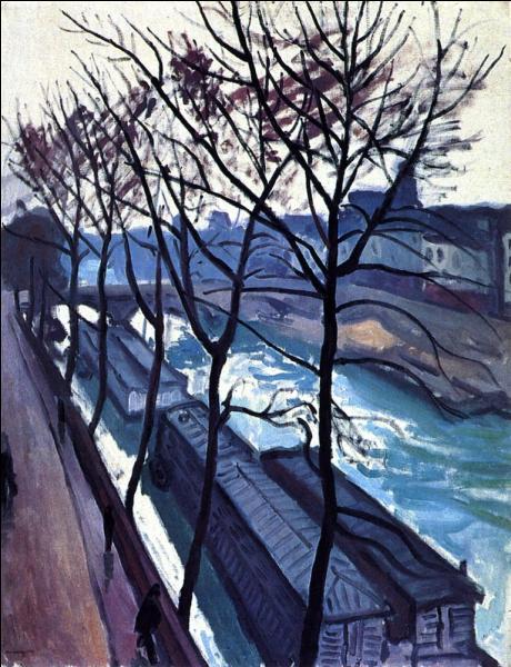 Peintre de paysages, au regard sensible, il aime peindre Paris, notamment le quai des Augustins qu'il voit depuis la fenêtre de son atelier. Il réalise  Le quai Bourbon  en 1908. Qui est ce peintre ?