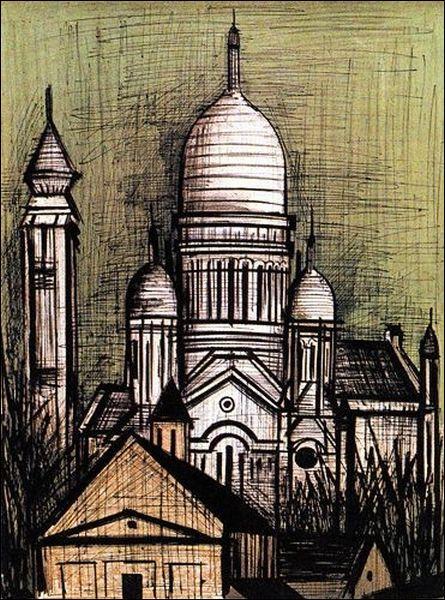 Quel peintre expressionniste, également peintre de décors de théâtre et illustrateur, a réalisé  Le Sacré Coeur  en 1965 ?