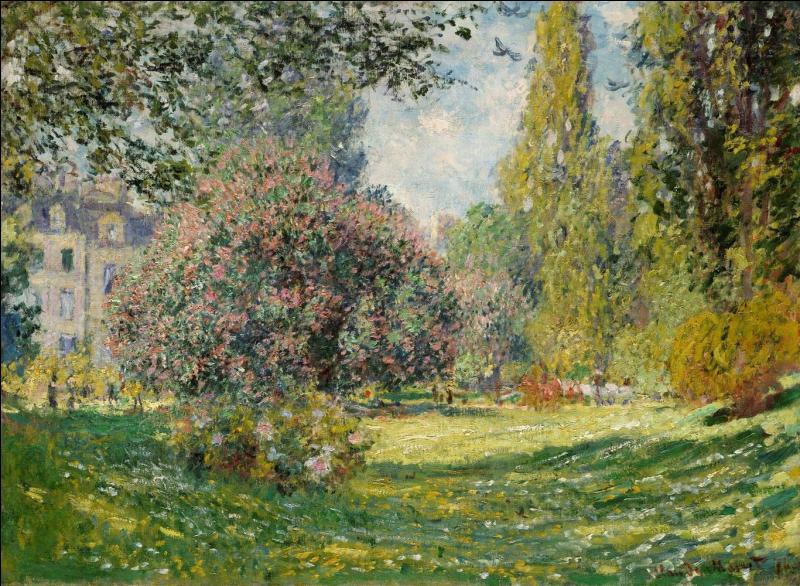 Le parc Monceau . Quel peintre impressionniste, parmi les plus connus, a représenté six fois ce parc entre 1876 et 1878 ?