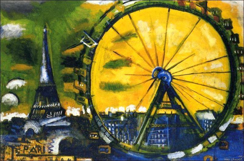La Grande roue  est une des premières toiles qu'il peint à son arrivée à Paris en 1911. Qui est ce peintre russe ?