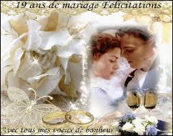 Quizz anniversaire de mariage de 11 20 ans quiz anniversaire - 9 ans de mariage noce de quoi ...
