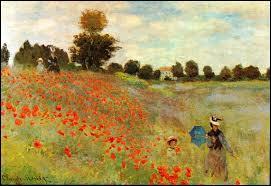 A quel peintre français doit-on les coquelicots (1873) ?