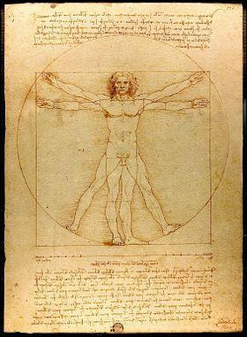 Peint par le maître Léonard de Vinci en 1492 pour mieux apprécier les proportions du corps humain je suis ... :