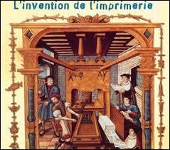 On attribue à Gutenberg l'invention de l'imprimerie en :