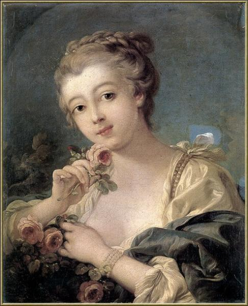 Qui a peint Femme au bouquet de roses ?