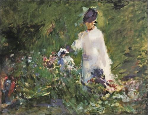 Qui a peint Une jeune femme parmi les fleurs ?