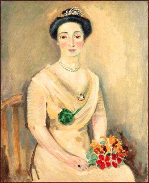 Qui a peint La baronne au bouquet ?