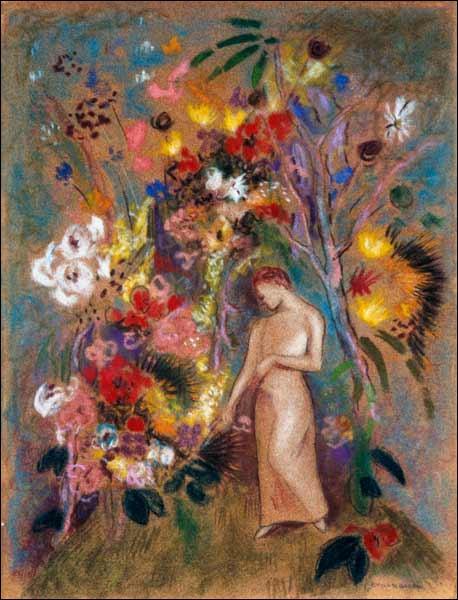 Qui a peint Silhouette de femme dans les fleurs ?