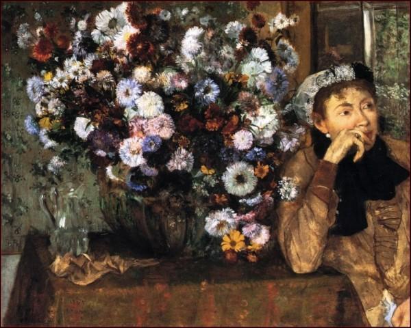 Qui a peint Femme aux chrysanthèmes ?