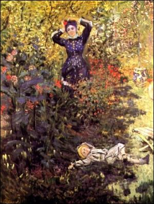 Qui a peint Camille et Jean dans le jardin ?