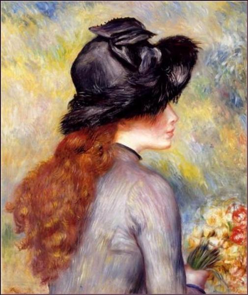 Qui a peint Jeune fille tenant un bouquet de tulipes ?
