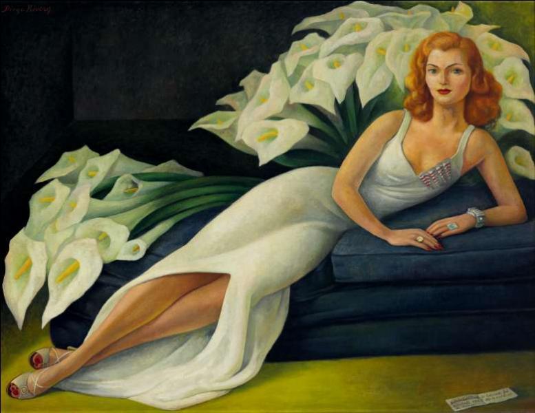 Peintures de femmes au milieu des fleurs