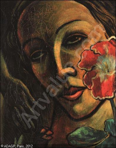 Qui a peint Tête de femme à la fleur ?
