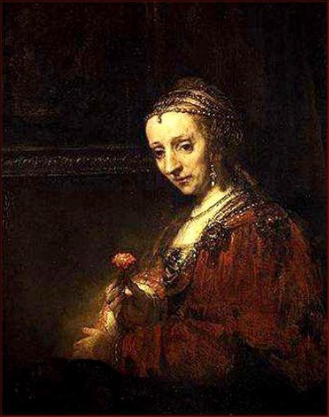 Qui a peint Saskia avec un oeillet ?
