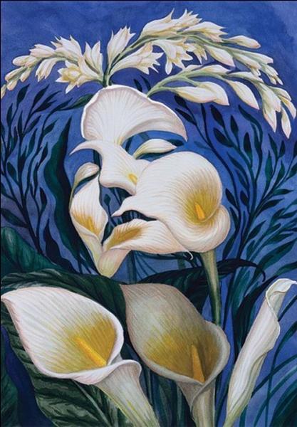 Qui a peint cette toile superbe d'illusion d'otique ?