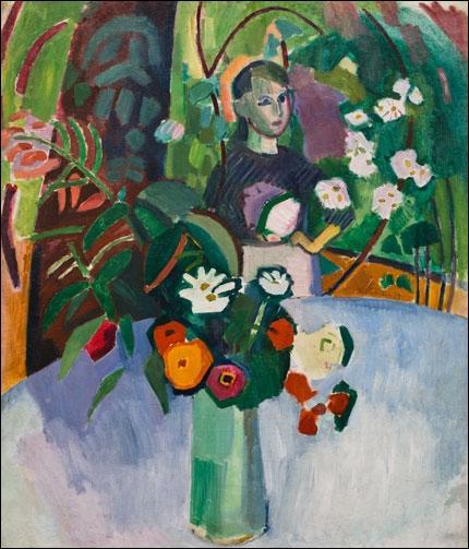 Qui a peint Jeanne dans les fleurs ?