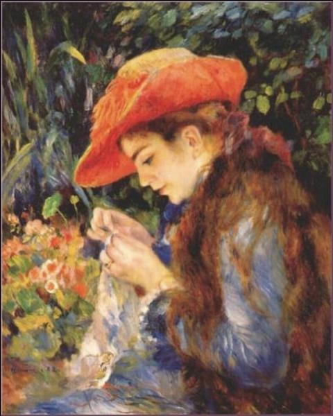 Les femmes au milieu des fleurs par les grands peintres