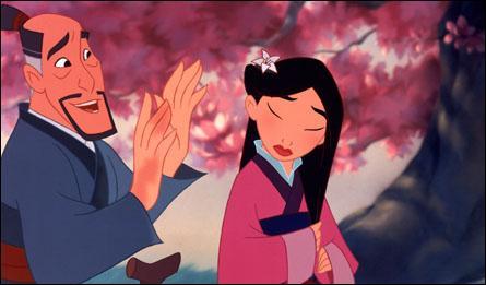 Que fait Mulan à la fin du dessin animé ?