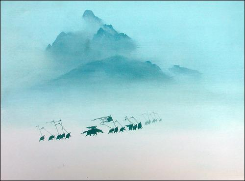 Complétez :  Qu'importe que le vent hurle, la montagne jamais...