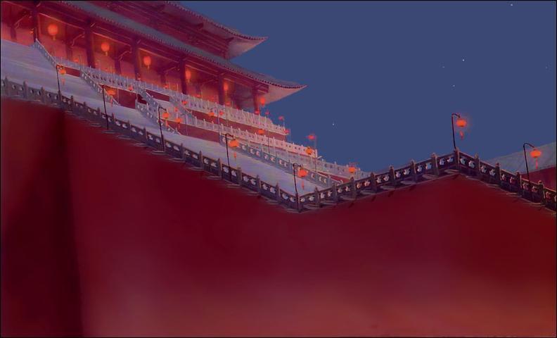 Qu'aperçoit-on dans le ciel de la Cité impériale peu de temps après la disparition tragique de l'affable Shan-Yu ?