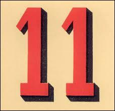 Le chiffre 11 est la réponse à quelle question ?