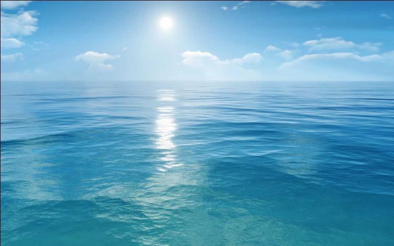 La mer est bleue car ...