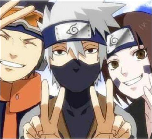 Rin, Obito et Kakashi font partie de l'équipe de :