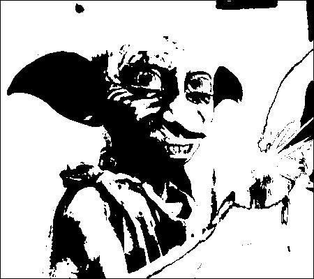 [Dobby Unchained] Lors de la première apparition de Dobby, sur quelle tête le gâteau qu'il fait léviter s'effondre-t-il ?