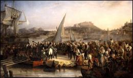 Lors de son grand retour sur le sol français le 1er mars 1815, près de quelle ville de Provence Napoléon débarque-t-il avec son armée de 1100 hommes ?