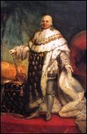 Quel monarque lui succède sur le trône lors de la Première Restauration ?
