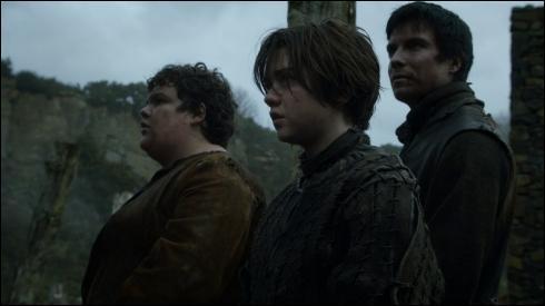 Comment s'appellent les compagnons d'Arya qui, à la base, étaient partis de Port Réal pour le Mur ( Winterfell pour Arya ) mais qui ont été arrêtés et emmenés à Harrenhal puis se sont échappés grâce à l'aide de Jacken Hagar ?