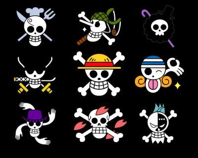 Comment est le drapeau pirate de Monkey-D-Luffy ?