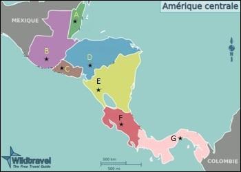 Où se situe sur la carte le Nicaragua qui a pour capitale la ville de Managua ?