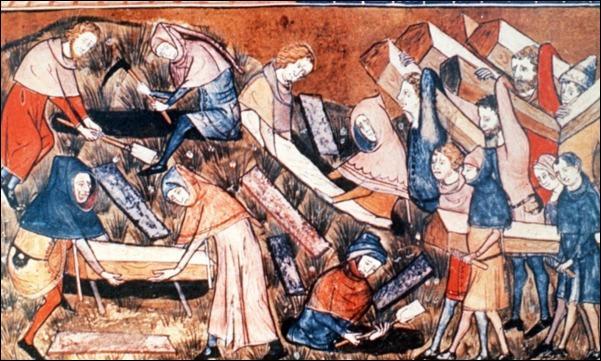 Durant quelles années la peste noire ravagea-t-elle l'Occident ?