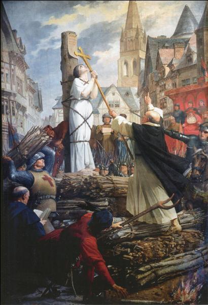 Jeanne d'Arc fut brûlée vive le 30 mai 1431 à Rouen. Elle avait à peine...