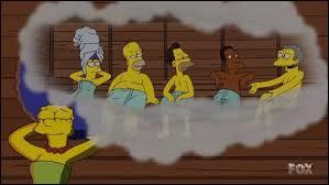 Quand Marge a découvert qu'elle avait un sauna. Qu'a-t-elle fait ?