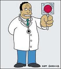 Quand Bart s'est fait piquer par un moustique venant de Chine qui est sortir de son Krusty Burger que lui a dit le Dr Hibert ?