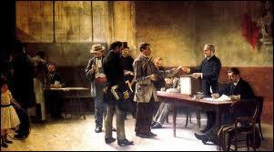 Jusqu'en 1913, les bureaux de vote ne comportaient pas d'isoloirs.