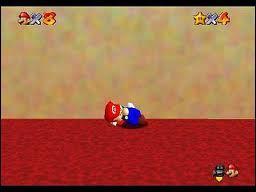 Quand on laisse dormir Mario sur un endroit plat, il rêve de...