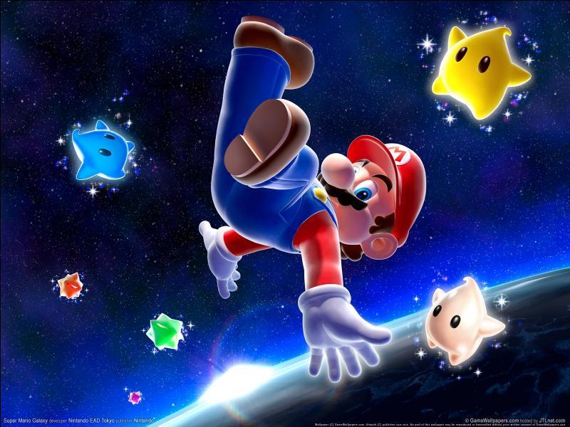 Quel est le jeu vidéo où Mario part dans l'espace ?