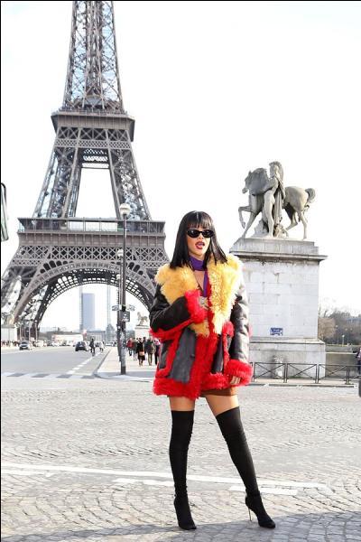 Comment venir visiter Paris sans prendre la pose devant la tour Eiffel, c'est sûrement ce qu'elle a dû se dire ?