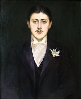 Jacques-Emile Blanche, peintre français (1861-1942), réalisa de nombreux portraits de personnages célèbres de son époque. Ce portrait, conservé au Musée d'Orsay, est celui de l'écrivain, auteur de   A la recherche du temps perdu . Il s'agit de :